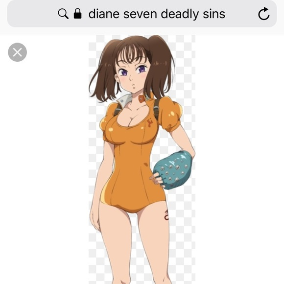 Nwot Seven Deadly Sins Diane Cosplay Outfit